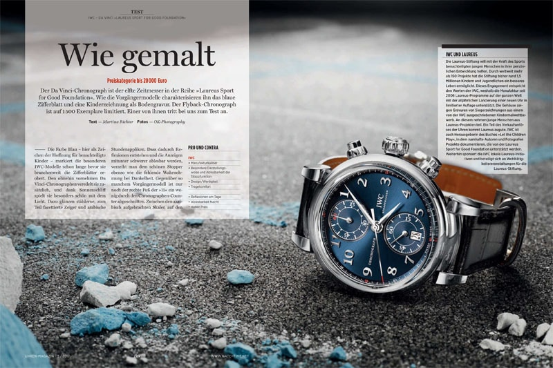 "Produkt: Download: IWC Da Vinci Chronograph ""Laureus Sport for Good Foundation"" im Test"