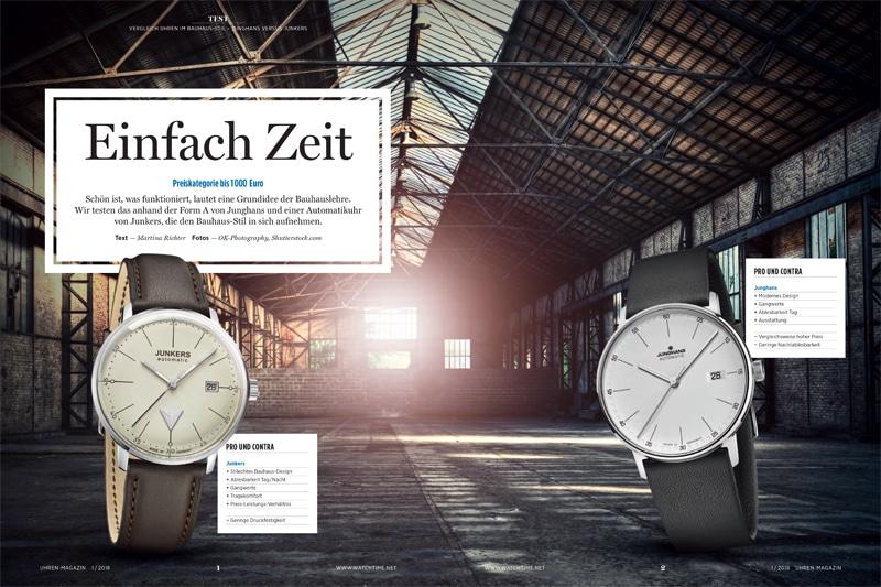 Produkt: Download: Junghans Form A und Junkers Bauhaus Automatic im Vergleich