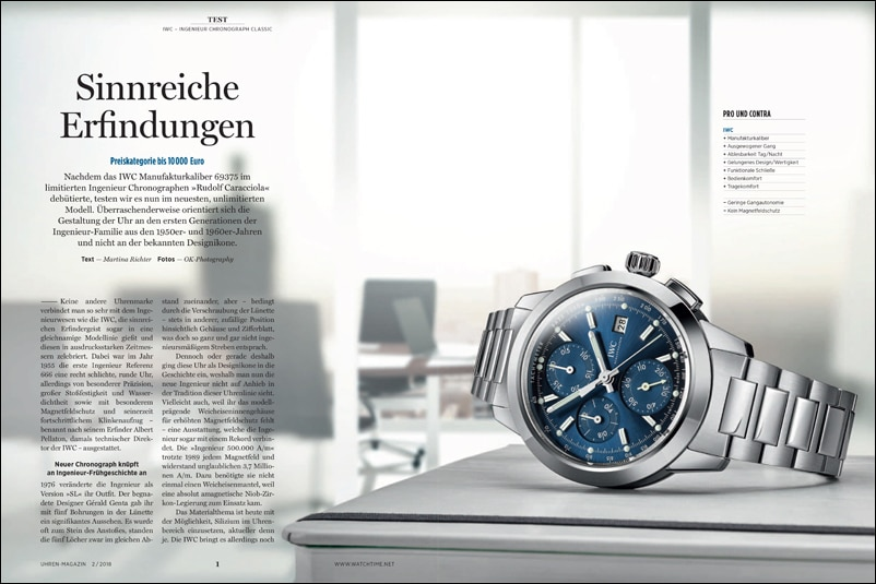 Produkt: Download: IWC Ingenieur Chronograph Classic im Test