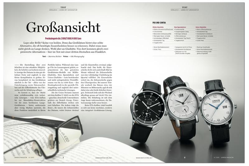 Produkt: Download: Vergleichstest von Uhren mit Großdatum – drei deutsche Hersteller im Test