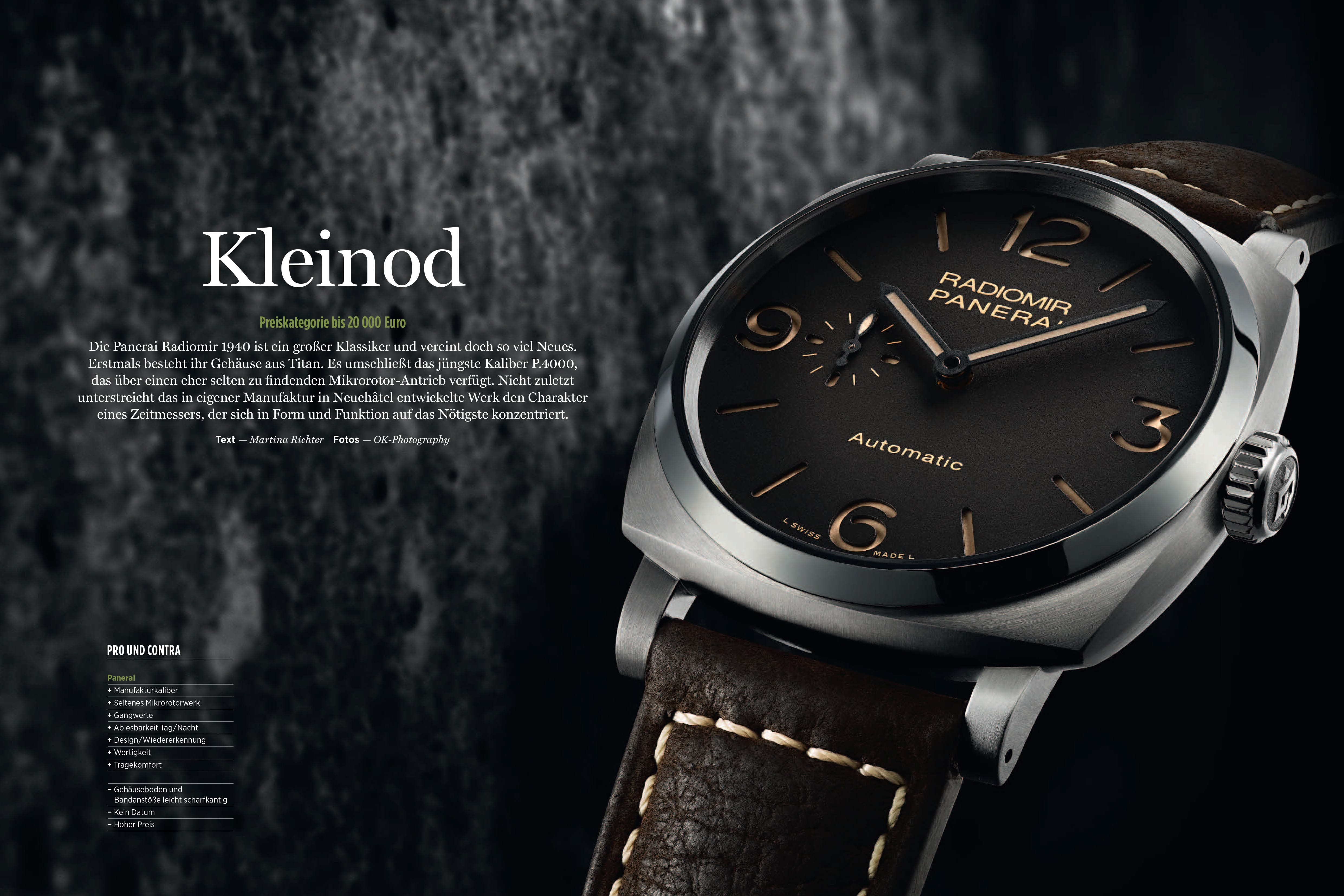 Produkt: Download: Panerai Radiomir 1940 3 Days Automatic Titanio im Test