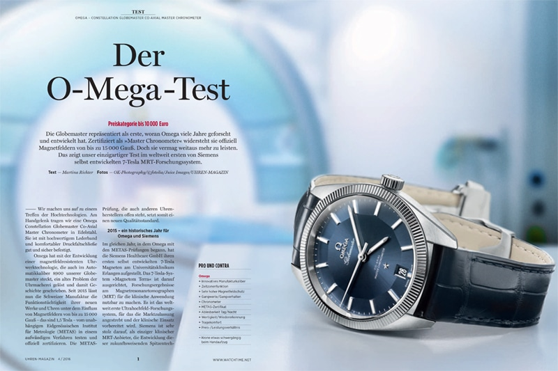 Produkt: Download: Weltweit erster Test der Omega Globemaster im 7-Tesla-MRT-Forschungssystem