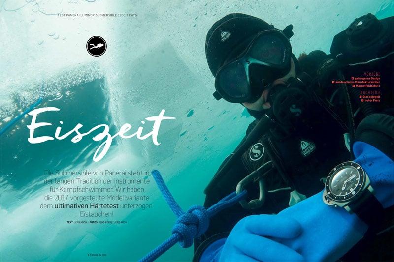 Produkt: Download:  Panerai Luminor Submersible 1950 3 Days im Praxistauchtest