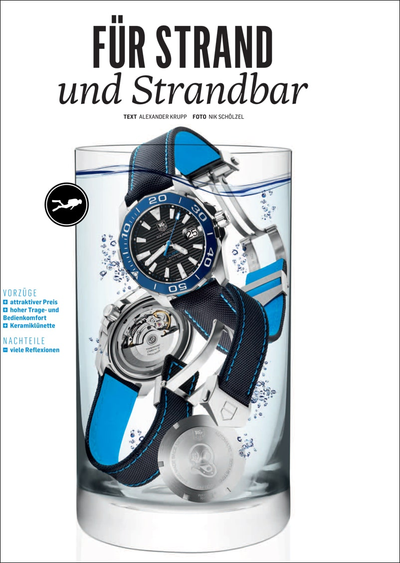 Produkt: Download: TAG Heuer Aquaracer Calibre 5 im Kurztest