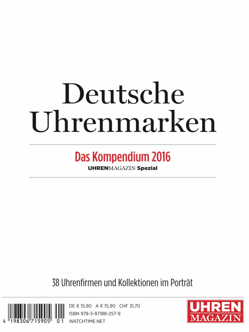 Produkt: UHREN-MAGAZIN Kompendium 2016 (digital)