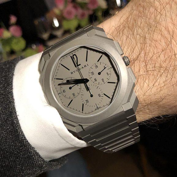 Wristshot des neuen Octo Finissimo Chronograph GMT Automatic