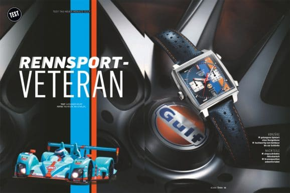 In Chronos 02.2019 getestet: TAG Heuer Monaco Calibre 11 Special Edition Gulf