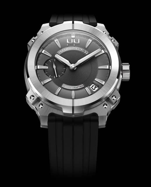 Neue Technologie für besonders wasserdichte Uhren: die Armure MU3 der jungen Schweizer Manufaktur Mauron Musy.