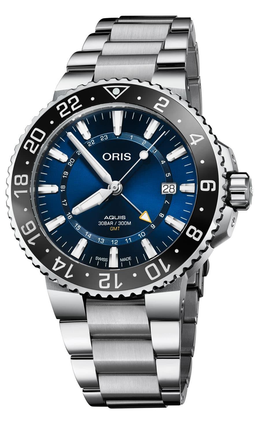 Oris: Aquis GMT Date mit Edelstahlband