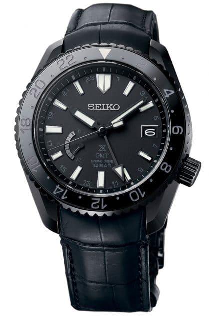 Seiko Prospex LX, Referenz SNR035, schwarz beschichtet, mit GMT-Zeiger und Drehlünette