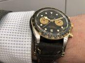 Wristshot der Tudor Black Bay Chrono S&G