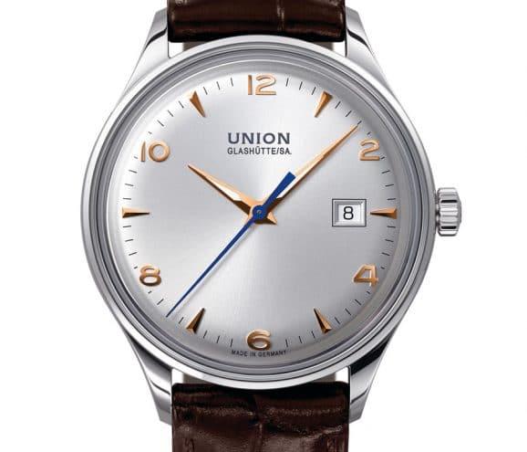 Union Glashütte: Noramis Datum mit Lederband und hellem Zifferblatt