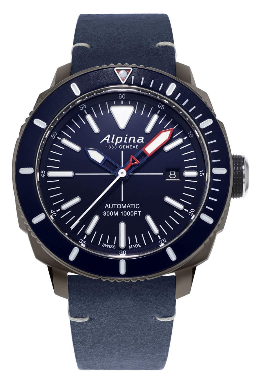 Alpina: Seastrong Diver 300 mit blauem Zifferblatt