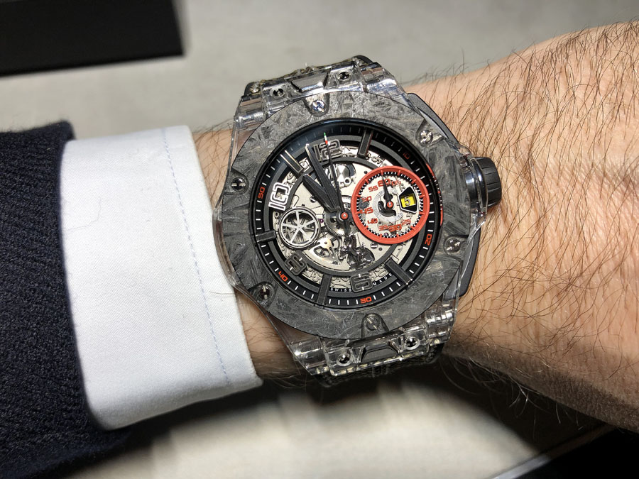 Hublot: die Big Bang Scuderia Ferrari 90th Anniversary im Saphirglasgehäuse