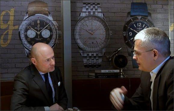 Breitling-Chef Georges Kern im Interview mit Rüdiger Bucher auf der Baselworld 2019