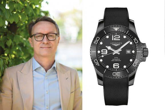 Holger Christmann, Chefredakteur UHREN-MAGAZIN, wählt die Hydronconquest All Black von Longines