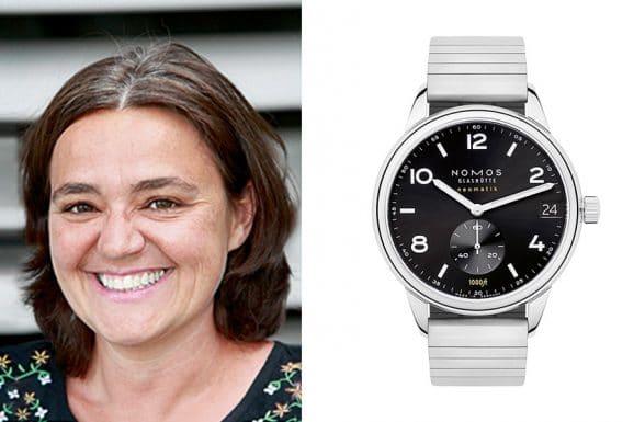 Sabine Zwettler, Autorin beim UHREN-MAGAZIN, empfiehlt die Nomos Glashütte Club Sport Neomatik 42