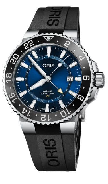 Oris: Aquis GMT Date mit Kautschukband