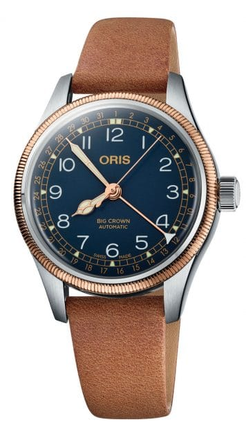Oris: Big Crown Pointer Date in Edelstahl mit Bronzelünette