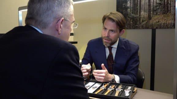 Rüdiger Bucher im Gespräch mit Oris-Co-CEO Rolf Studer