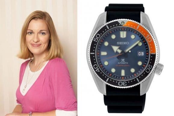 """Katharina Studer, Redakteurin Watchtime.net, entscheidet sich für die Seiko Prospex Automatik Diver's Limited Edition """"Twilight Blue"""" (SPB097J1)"""