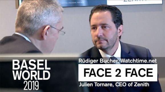 Rüdiger Bucher im Gespräch mit Zenith-CEO Julien Tornare, Baselworld 2019