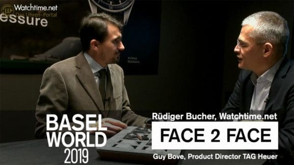 Videointerview: Rüdiger Bucher und Guy Bove,Produktdirektor TAG Heuer, Baselworld 2019