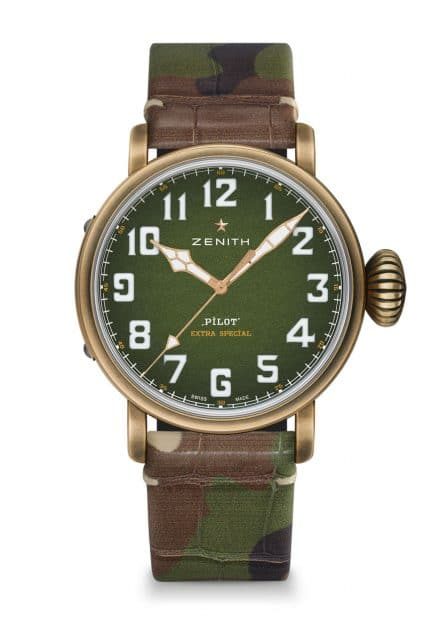 Zenith: Pilot Type 20 Adventure mit Camouflage-Alligatorband