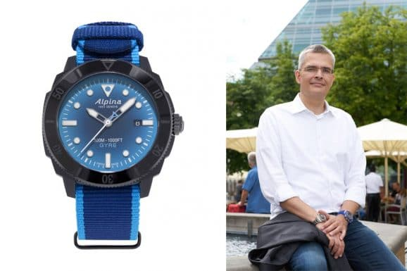 Rüdiger Bucher, Chefredakteur Chronos, gefällt Alpina Seastrong Diver Gyre Automatic