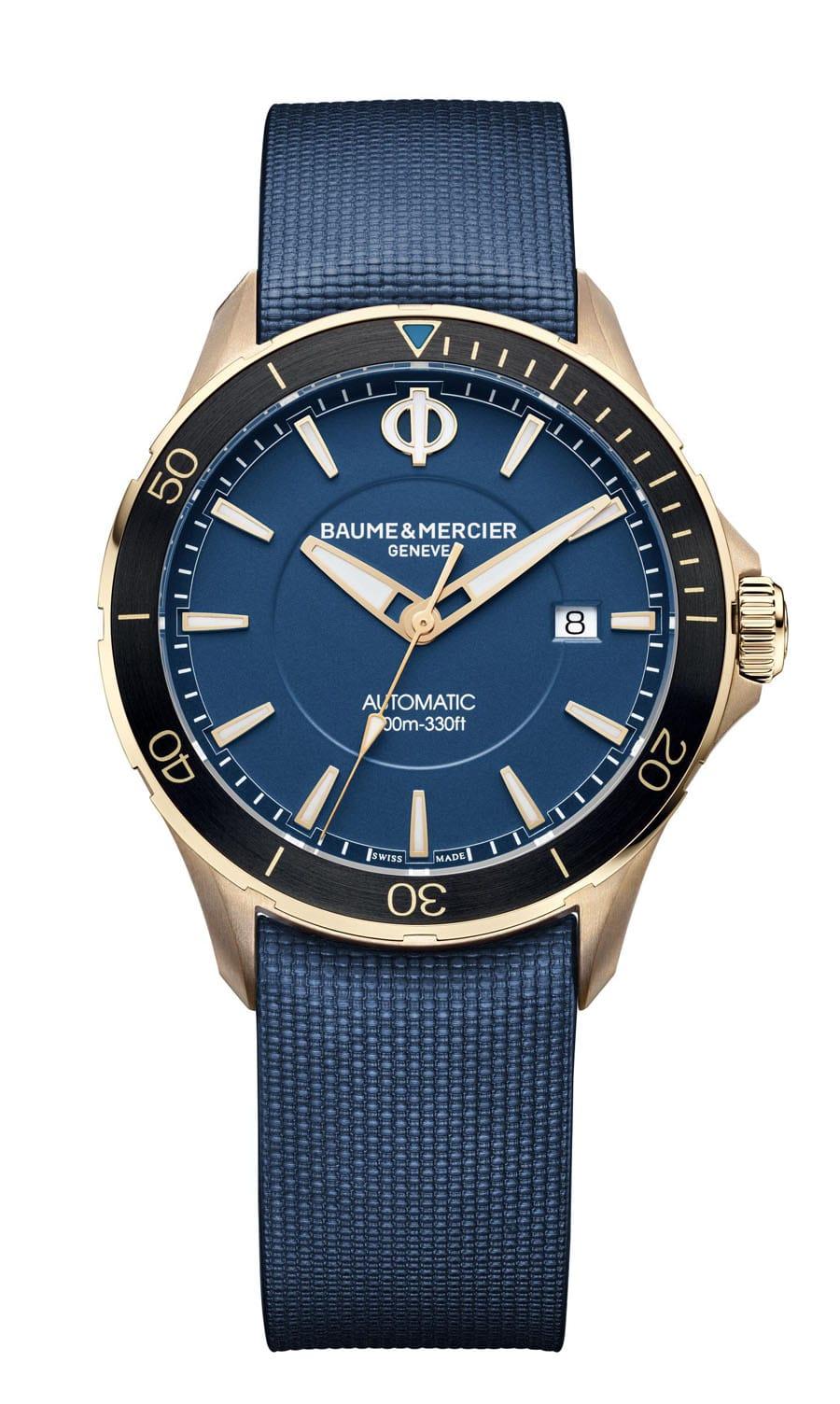 Baume & Mercier: Clifton Club Bronze mit blauem Zifferblatt
