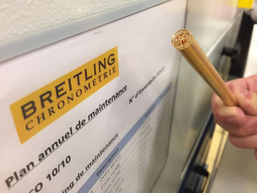Aus Messingstangen werden Zanhräder: die Chronos-Leserreise Jura 2019 bei Breitling