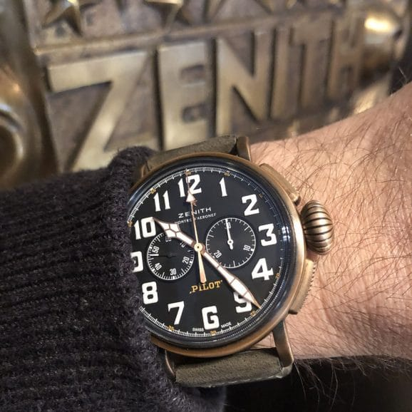 Chronos-Leserreise Jura 2019: die Zenith Type 20 Chronograph am Handgelenk