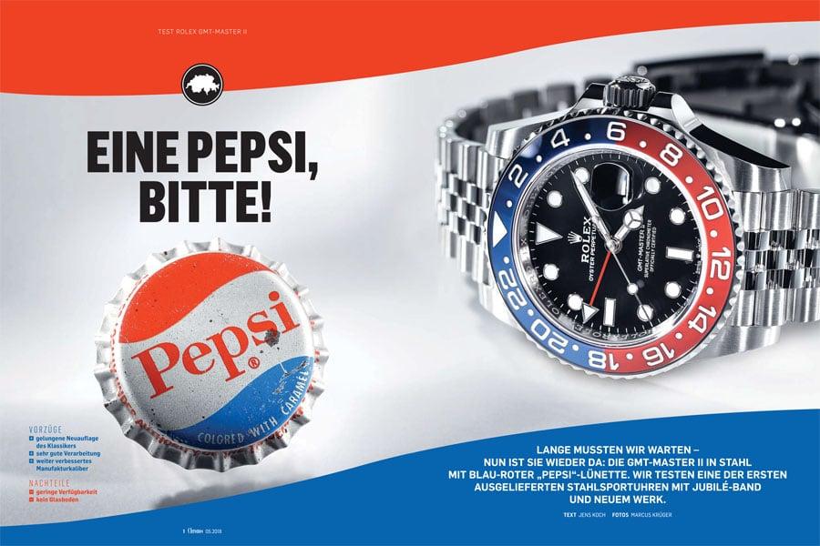 Produkt: Download: Rolex GMT-Master II mit Pepsi-Lünette im Test