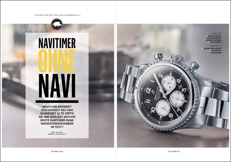 Produkt: Download:  Breitling Navitimer 8 Chronograph im Test