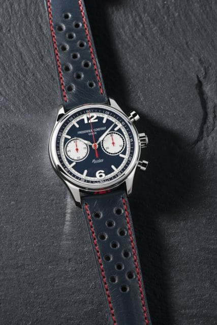Frédérique Constant: Vintage Rally Healey Chronograph Automatic am Racing-Lederband