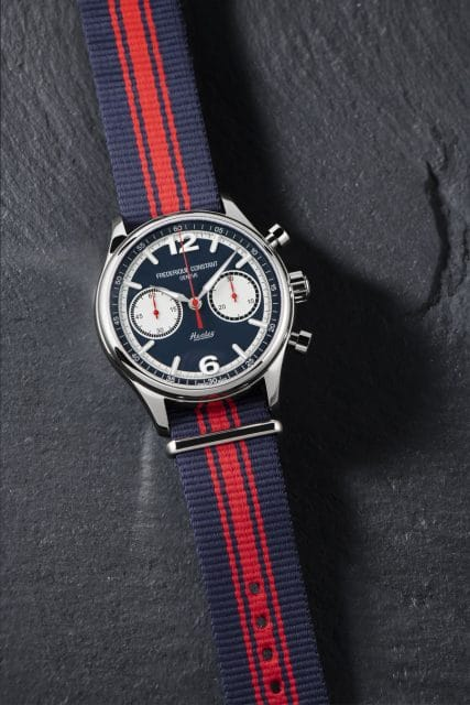 Frédérique Constant: Vintage Rally Healey Chronograph Automatic am Textilband