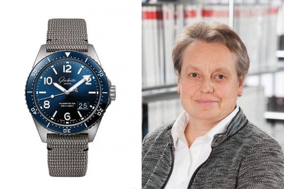 Martina Richter, stellvertretende Chefredakteurin UHREN-MAGAZIN, empfiehlt die Glashütte Original SeaQ Panoramadatum