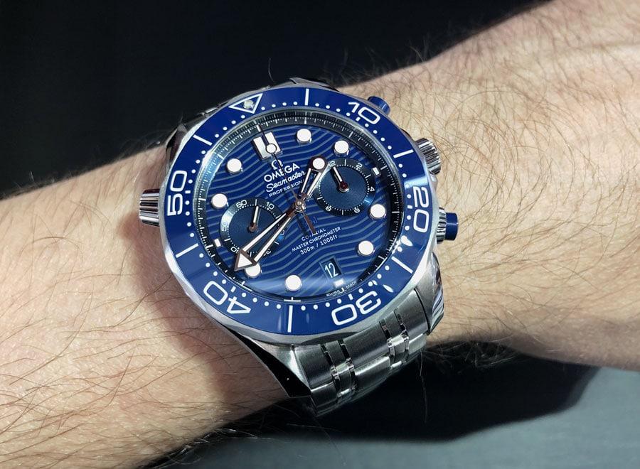 Omega: Seamaster Diver 300M Chronograph Edelstahl Wristshot
