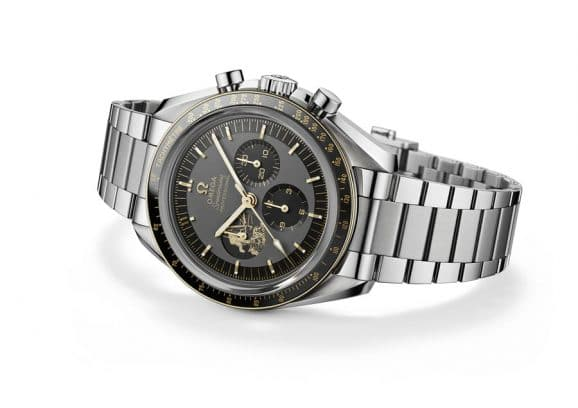 Omega: Speedmaster Apollo 11 50th Anniversary Limited Edition in Edelstahl/Gold
