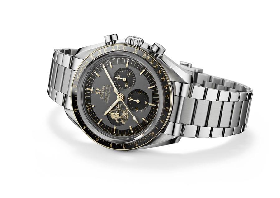 Omega: Speedmaster Apollo 11 50th Anniversary Limited Edition in Edelstahl/Gold