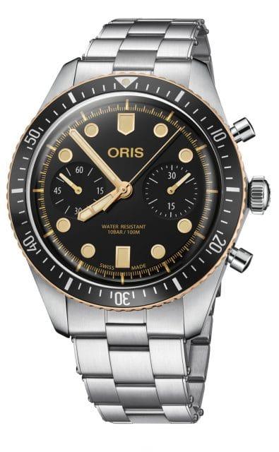 Oris: Divers Sixty-Five Chronograph am Edelstahlband