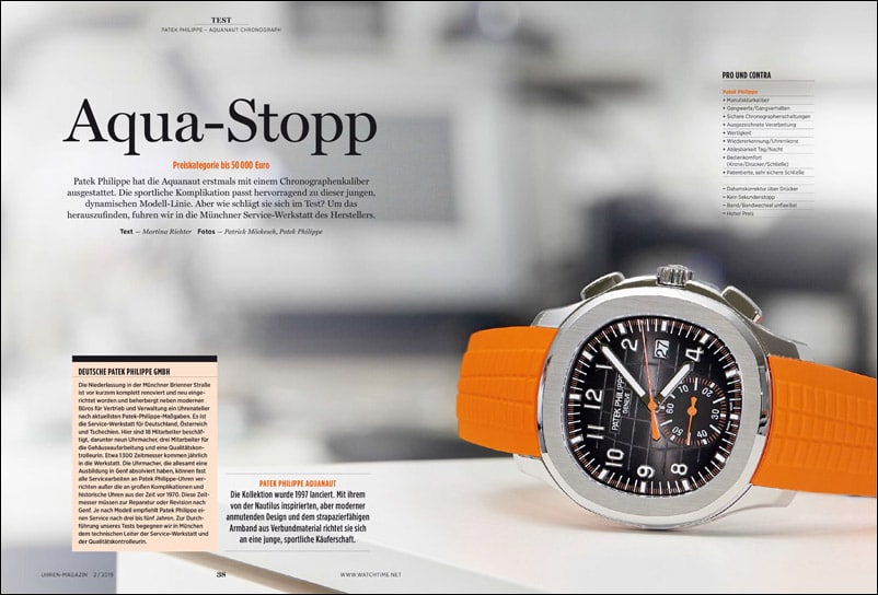 Produkt: Download: Patek Philippe Aquanaut Chronograph im Test