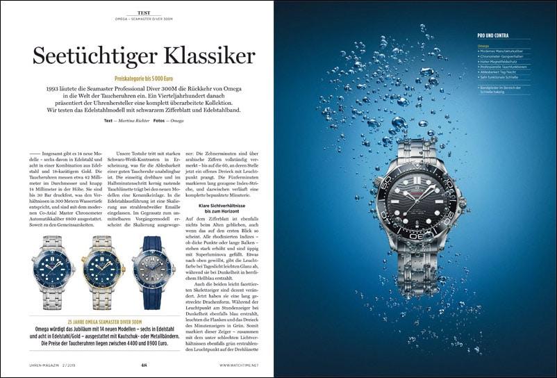 Produkt: Download UHREN-MAGAZIN: Omega Seamaster Diver 300M im Test