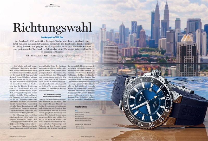 Produkt: Download: Oris Aquis GMT Date im Test