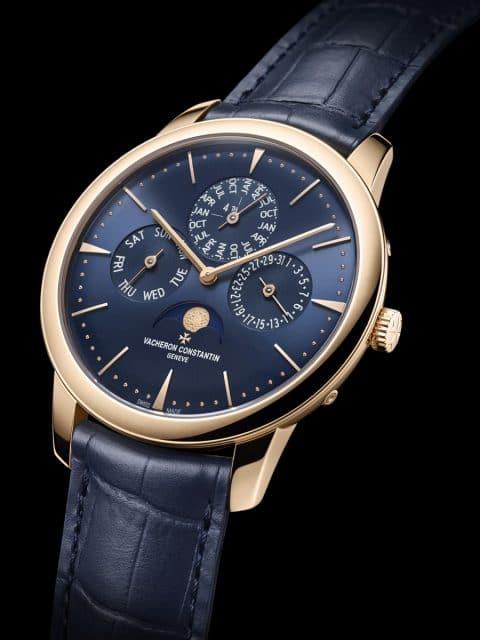 Vacheron Constantin: Patrimony Perpetual Calendar Ultra-thin blue dial