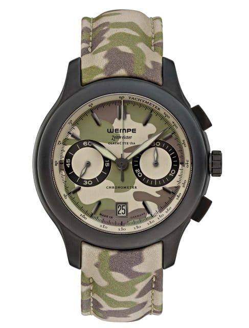 Zieht die Blicke auf sich: Wempe Zeitmeister Chronograph Camouflage.