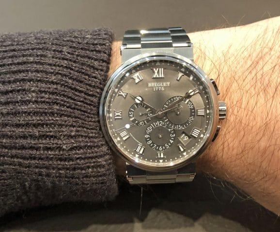 Wristshot des Breguet Marine Chronographe 5527