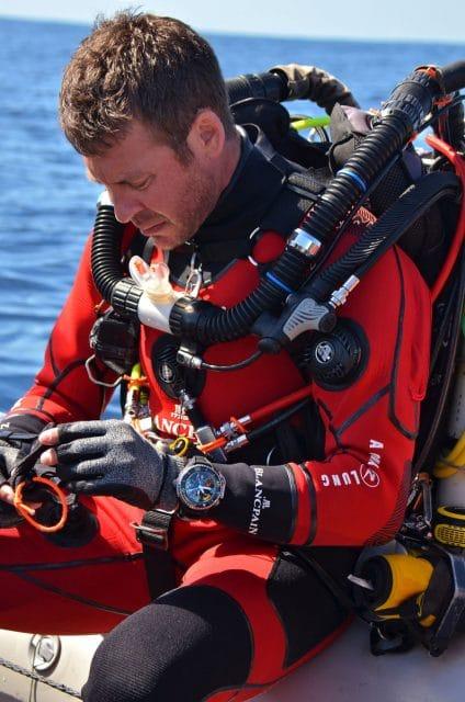 Blancpain arbeitet für sein Ocean Commitment mit dem Taucher Laurant Ballesta zusammen