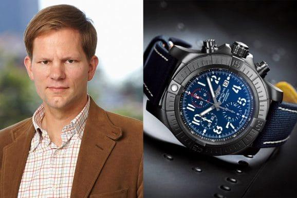 Jens Koch, Redakteur Chronos, wählt die Breitling Super Avenger Chronograph 48 Night Mission