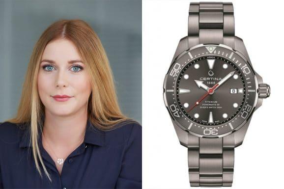 Nadja Ehrlich, Online-Redakteurin Watchtime.net, empfiehlt die Certina DS Action Diver
